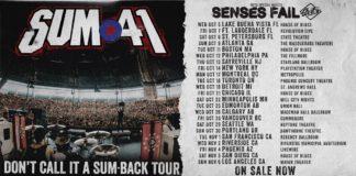 Sum 41 Fall Tour Dates