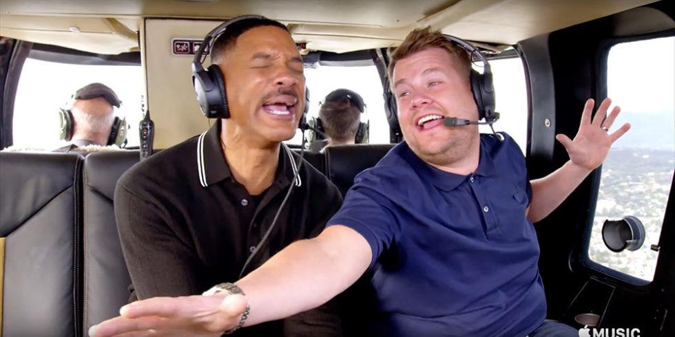 Carpool karaoke with will smith and james corden for Car pool karaoke show
